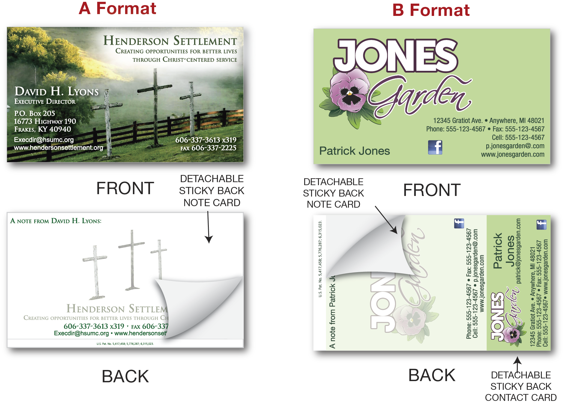 A Business Card With 1 Or 2 L Off Sticky Notes On The Back Of Lets You Write Your Own Message Without Leaving Mark